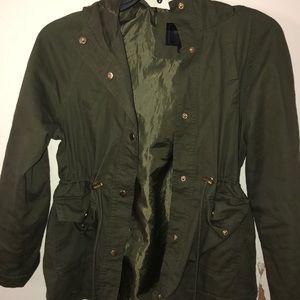 Green Adjustable Bomber Jacket